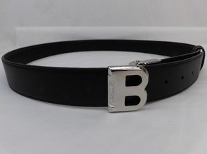 Bally Black Bising 35 Reversible Grain Leather Logo Adjustable Belt 110 44 Men's Jewelry/Accessory