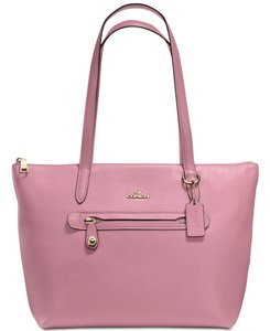 Coach Taylor Leather Tote in Pink