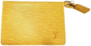 Louis Vuitton LOUIS VUITTON Yellow Tassil Epi Leather Small Pouch with Top Zipper
