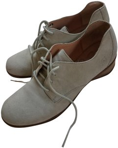 Børn Lace Suede Leather Arch Oxford Beige Flats