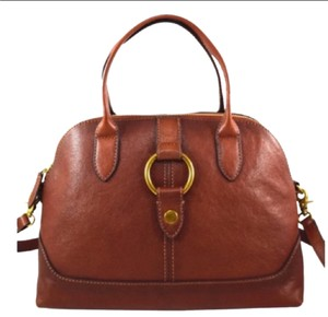 Frye Satchel in Cognac