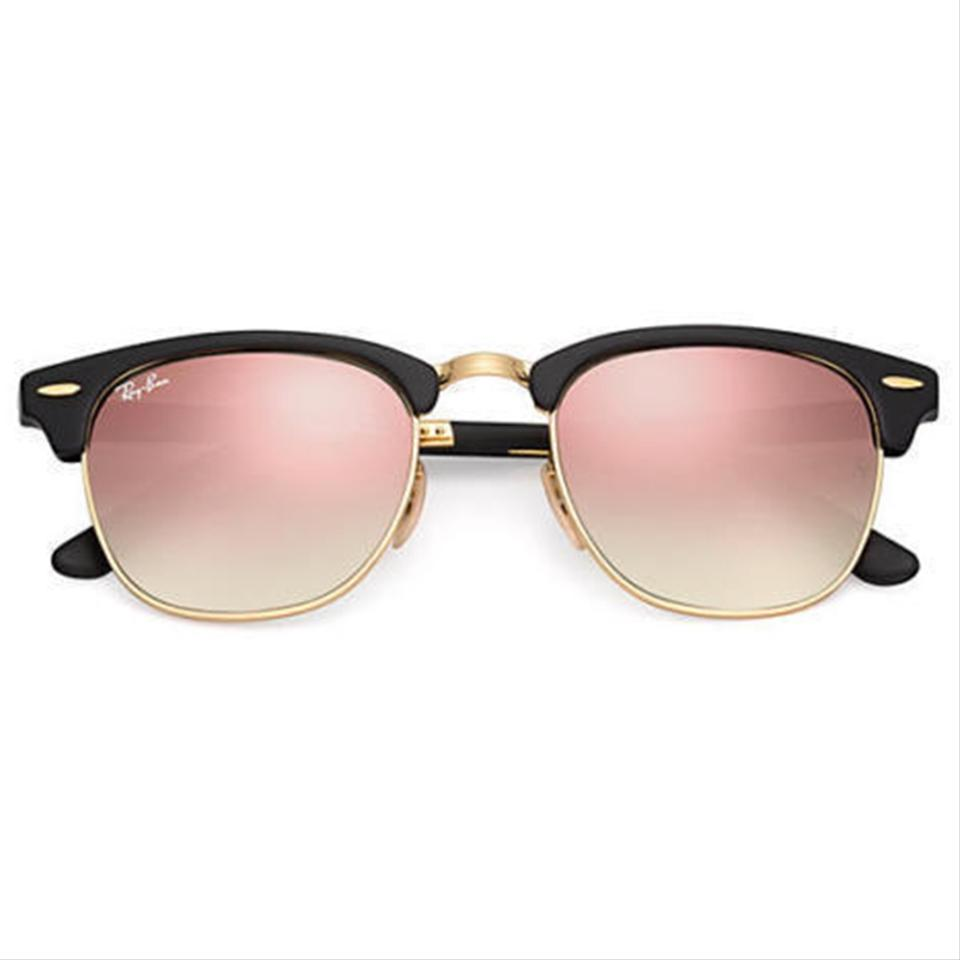 2271f2bcec Ray-Ban Clubmaster Folding Flash Black Gold Frame   Copper Gradient ...