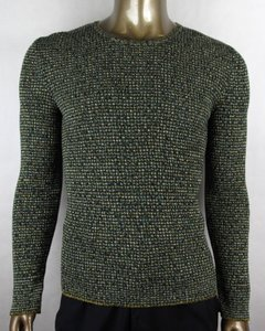 Gucci Dark Blue/Green/Yellow L Blue/Green/Yellow Vanise Cotton Sweater 429806 4842 Groomsman Gift