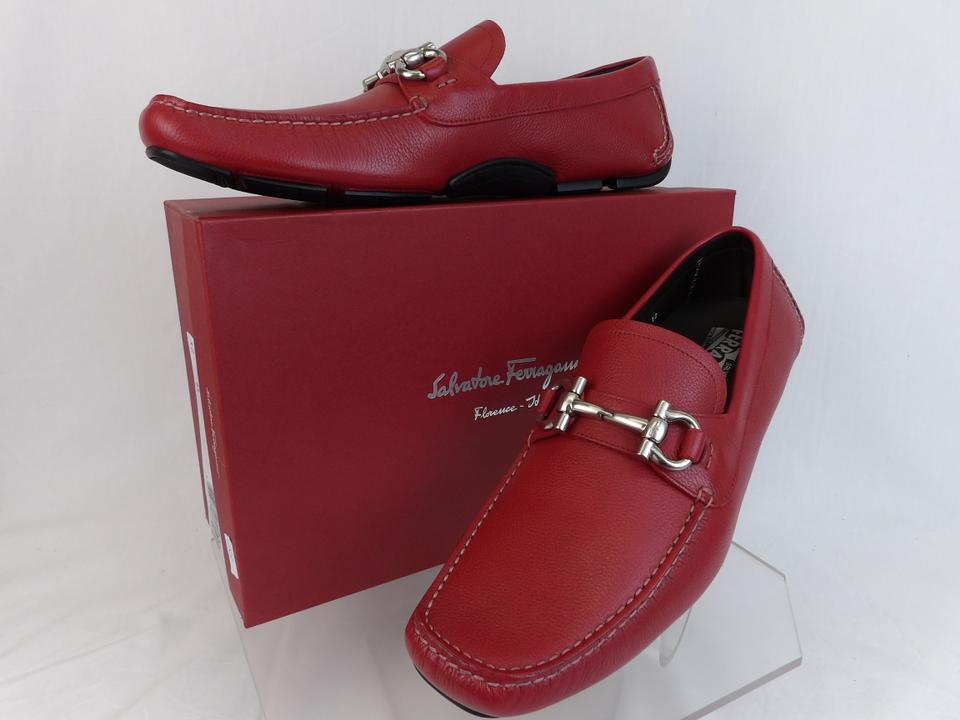c6db62fc5d9 Salvatore Ferragamo Red Parigi Leather Gancini Bit Driving Moccasins 8 Ee  41 Shoes Image 0 ...