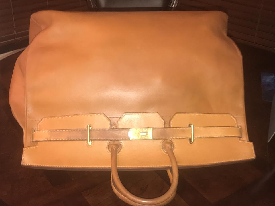 Hermès Birkin Veau Courchevel Sac Hac 60 Ghw Camel Leather Tote ... 9f8f0db670578