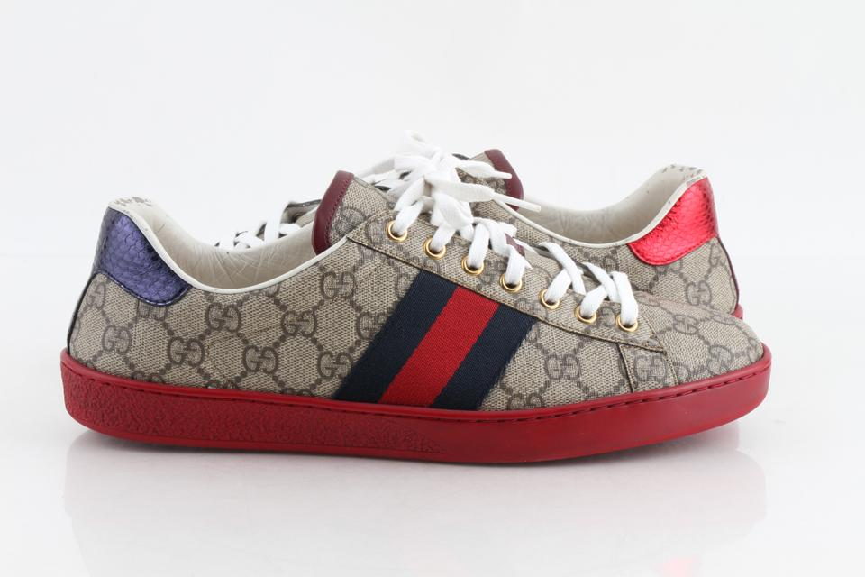 fdee1e7f6912a Gucci Multicolor Ace Gg Supreme Low-top Sneakers Shoes Image 0 ...