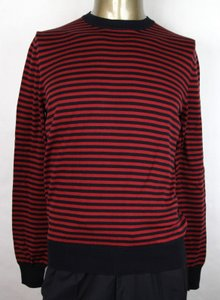 Gucci Black/Red Black/Red Striped Cotton/Cashmere Pullover Sweater S 411730 4027 Groomsman Gift