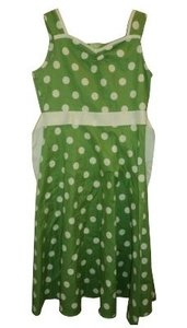 Green and white polka dots Maxi Dress by Urban Outfitters