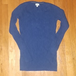 Mimi Maternity CERULEAN V NECK CABLE KNIT SWEATER