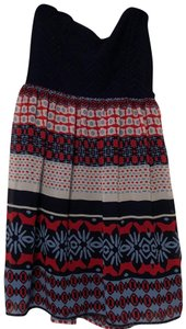 City Triangles short dress navy, red and white on Tradesy