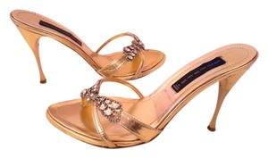 Steve Madden Rhinestone Summer Summer Lovers Dragonfly Wedding Bling Party Reception Gold Sandals