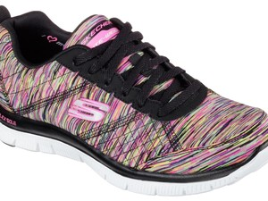 Skechers Black multi-color space-dyed. Athletic