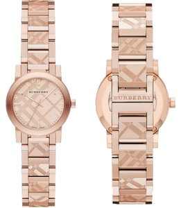 Burberry Brand New BURBERRY City Rose-Gold Pink Dial Ladie's Watch BU9235