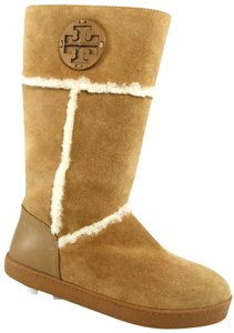 205ea9abef6b Tory Burch Light Beige Amelie Shearling Pull On Flat Wedge Warm ...