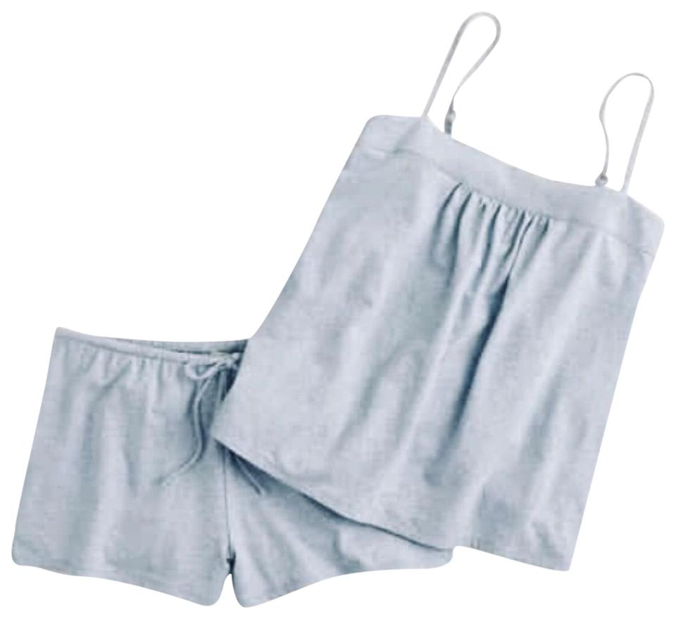 c293c4903 J.Crew Pajama Set Cotton Dress Shorts Light Blue Image 0 ...