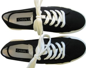 Casual Corner Sneakers White New Black Athletic