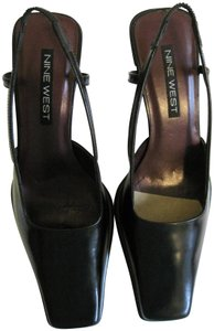 Nine West Leather New Black Pumps