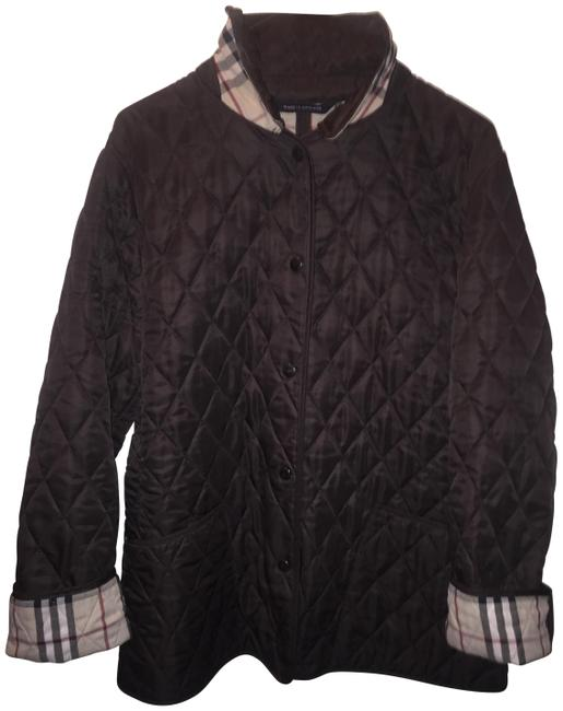 Item - Deep Brown Quilted Barn Nova Check Coat Size 10 (M)