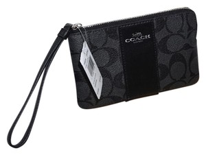 Coach Signature C black pray wristlet wallet