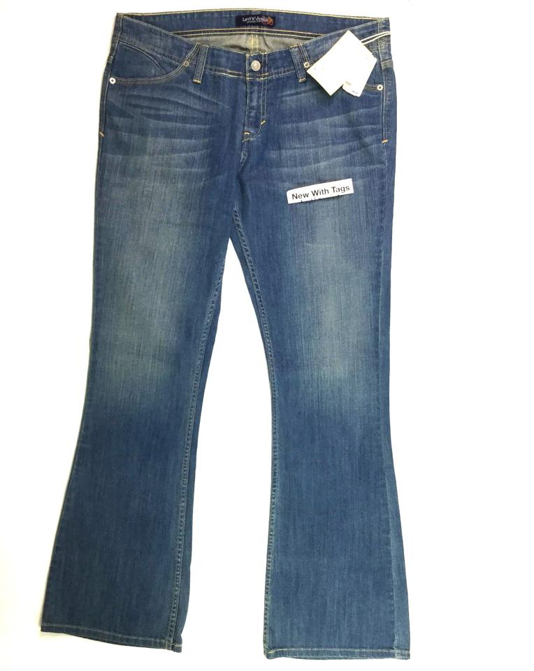 c2d016f9d88 Levi's Blue Medium Wash Women Genuinely Crafted Low Rise Stretch 17m Flare  Leg Jeans