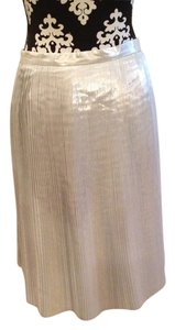 Talbots Pleated Party Skirt Silver