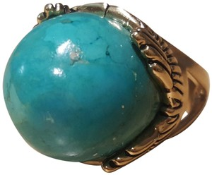 Barse NWOT / BARSE brass & turquoise art deco set cocktail ring