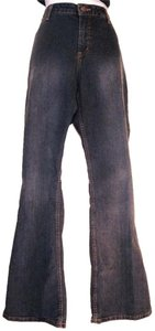 Mossimo Supply Co. Dark Wash Stretch 35 Waist Juniors Boot Cut Jeans-Dark Rinse