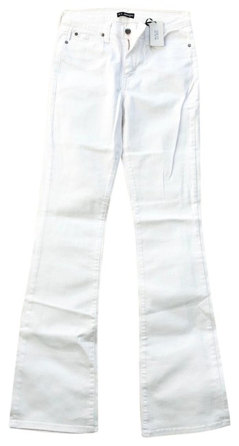 Item - White Light Wash Boot Cute Flare Leg Jeans Size 6 (S, 28)