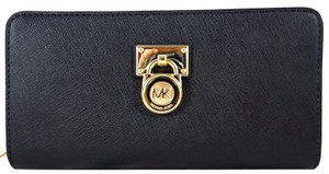Michael Kors Wallet Leather 190049644270 Wristlet in Black