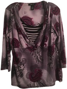 Style & Co Top Purple/gray