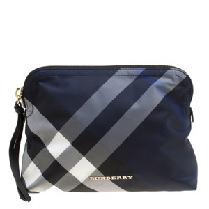 Burberry Nylon Blue Clutch