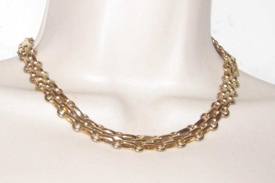 7582178f0bd Dior Three Dimensional Woven Round Gold Links Necklace Designer Necklace
