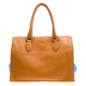 Fendi Leather Tote in Brown