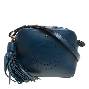 Anya Hindmarch Leather Suede Cross Body Bag
