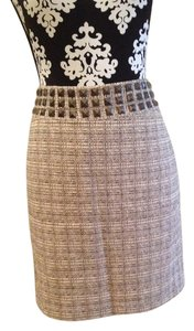 The Limited Studded Tweed Skirt Tan