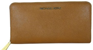 Michael Kors Leather Wallet 888235394022 Wristlet in Luggage