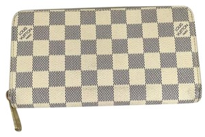 Louis Vuitton Authentic Louis Vuitton Zippy Damier Azur Canvas Clutch Wallet