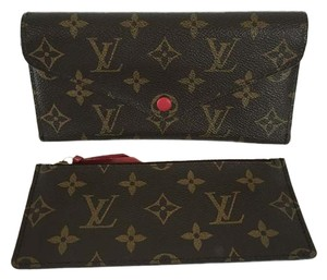 Louis Vuitton Louis Vuitton Josephine Monogram Canvas Red Leather Coin Wallet