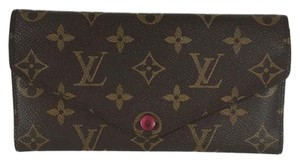 Louis Vuitton Louis Vuitton Josephine Monogram Canvas Purple Leather Wallet