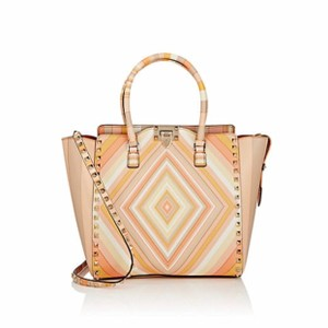 Valentino Studded Leather Color-blocking Tote in Multi-Color
