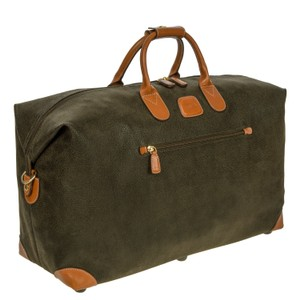Bric's Carryon Duffel Suede Olive Green Travel Bag