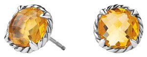 David Yurman BEAUTIFUL!! LIKE NEW!!! David Yurman Chatelaine Faceted Citrine Sterling Silver Earrings with 14 Karat White Gold Post Sterling Silver 14 Karat White Gold Post 8mm Diameter Faceted Citrine 100% Authentic Guaranteed!!! Comes with Original David Yurman Pouch!!!
