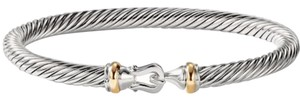 """David Yurman BEAUTIFUL!! LIKE NEW!!! David Yurman 5 mm Cable Classic Buckle Bracelet with 18 Karat Yellow Gold and Sterling Silver 18 Karat Yellow Gold Sterling Silver 5mm Size: Small 6.75"""" 100% Authentic Guaranteed!!! Comes with Original David Yurman Pouch!!!"""