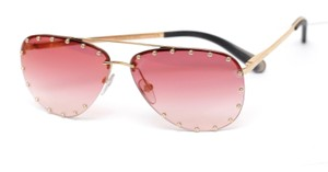 53067fe1436e Louis Vuitton LOUIS VUITTON Sunglasses Pink Lens THE PARTY Metal Studs Gold  HW