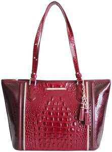 Brahmin Leather Asher Chianti Tote in Red