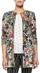 Alice + Olivia Holiday Embroidered Party Trench Coat