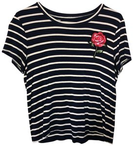 Aéropostale T Shirt Navy and White