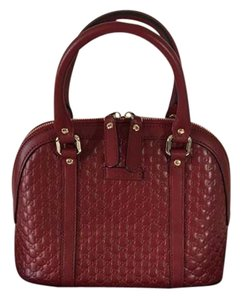 27d2403e6b42 Added to Shopping Bag. Gucci Shoulder Bag. Gucci New Medium Micro Gg  Guccissima 449654 Red ...
