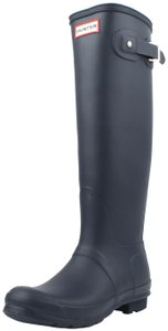 Hunter Rubber Navy Boots
