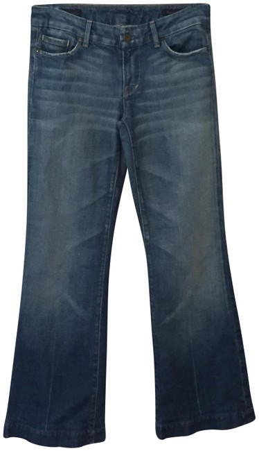 Item - Blue Distressed Kate #066 Low Waist Fullleg Streatch Boot Cut Jeans Size 29 (6, M)